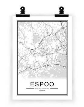 Espoo Kartta Juliste Emma Shop Verkkokaupasta
